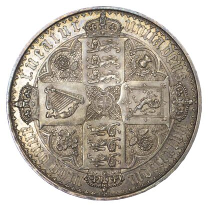 1847 Gothic Victoria Crown About as Struck