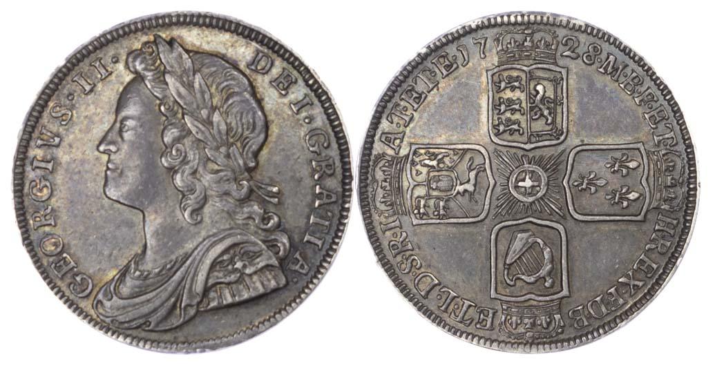 George II (1727-60) Proof Silver Sixpence, 1728, Plain Edge (R4)