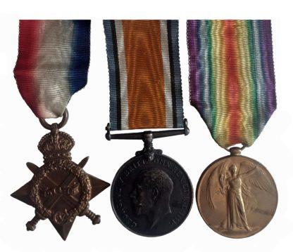 A Great War Rifle Brigade Casualty Trio to Private James Scofield
