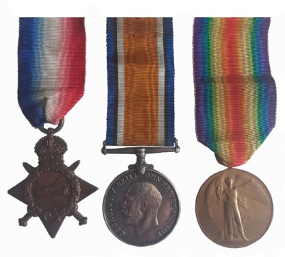 A Great War Rifle Brigade Casualty Trio awarded to Private George Shirton