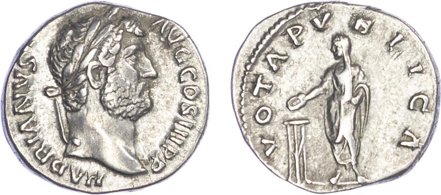 Hadrian, Silver Denarius