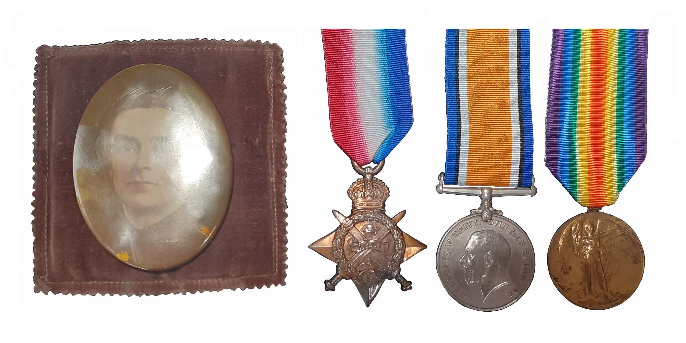 A Great War 1914 and 1915 Gallipoli Casualty 1914 Star Trio to Private Joseph Castile