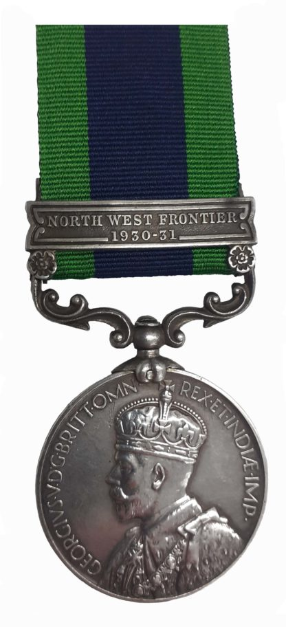 India General Service Medal 1908-35, one clasp North West Frontier 1930-31 to Sepoy Lall Khan
