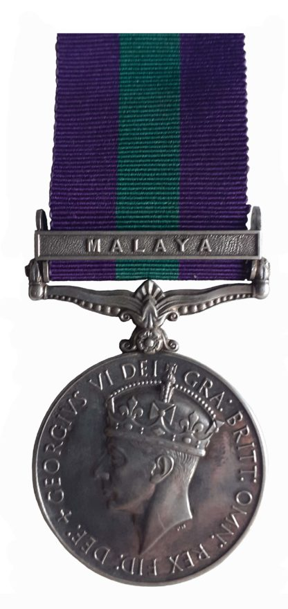 General Service Medal 1918-62, GVIR, one clasp, Malaya, to Private T.R. Koerber