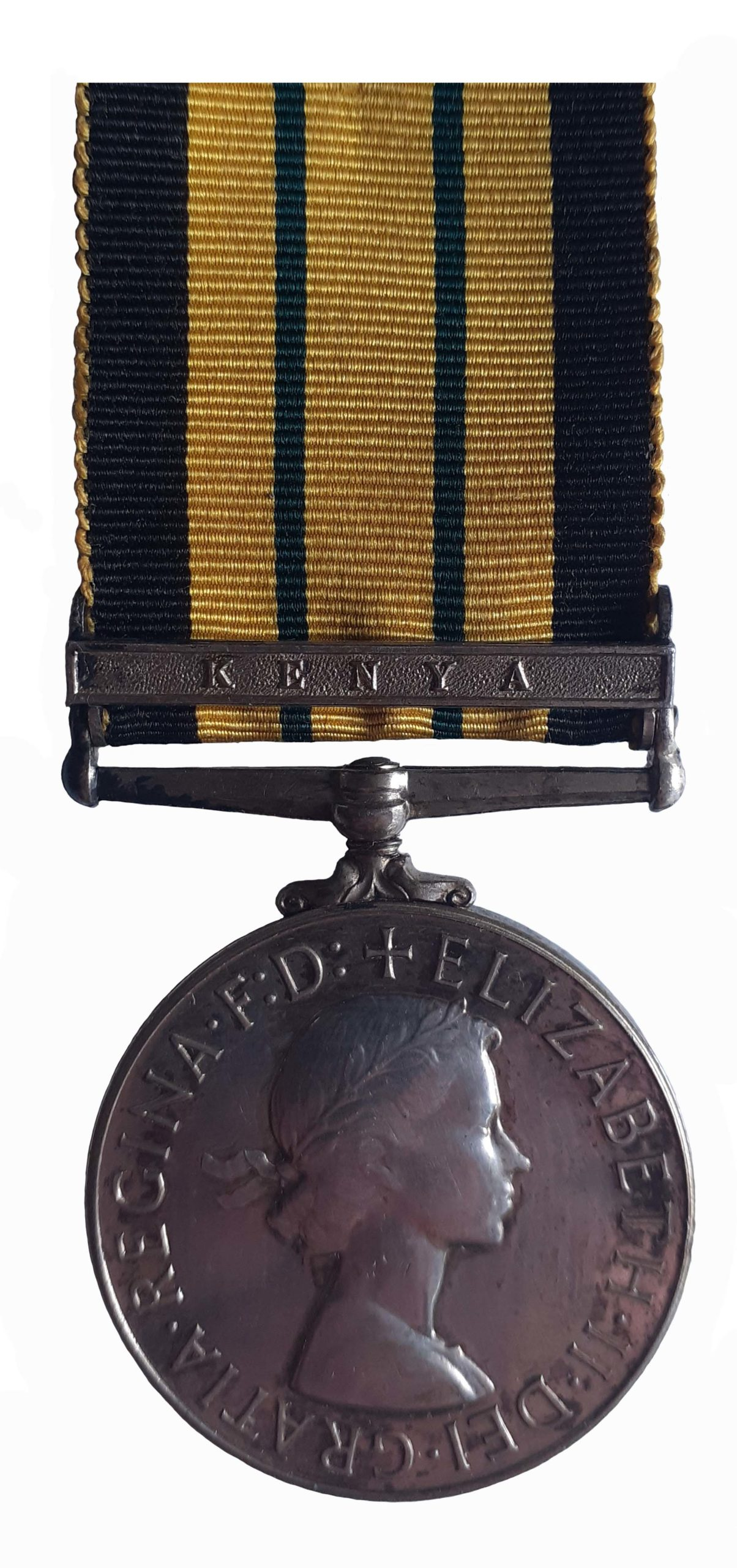 Africa General Service Medal 1902-56, EiiR, one clasp Kenya to Fusilier D. Ayers