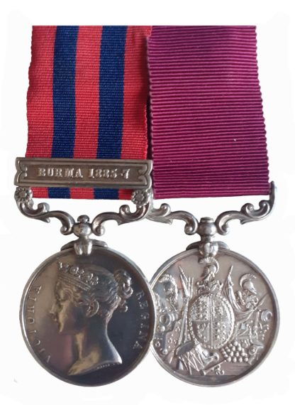 India General Service and Army Long Service and Good Conduct Medal Pair, to Sergeant Major Walter Cox