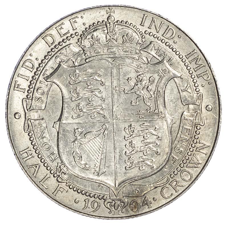 Edward VII (1901-1910), Halfcrown, 1904