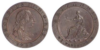 George III (1760-1820), Farthing, 1798 Bronzed Pattern restrike
