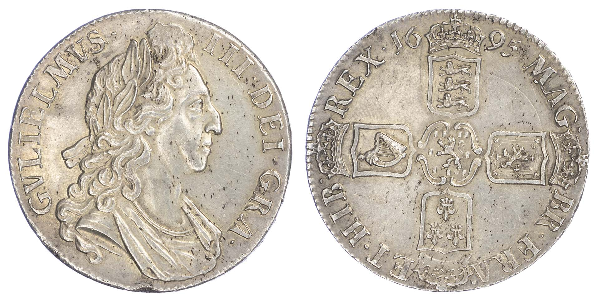 William III (1694-1702), Crown, 1695, Octavo