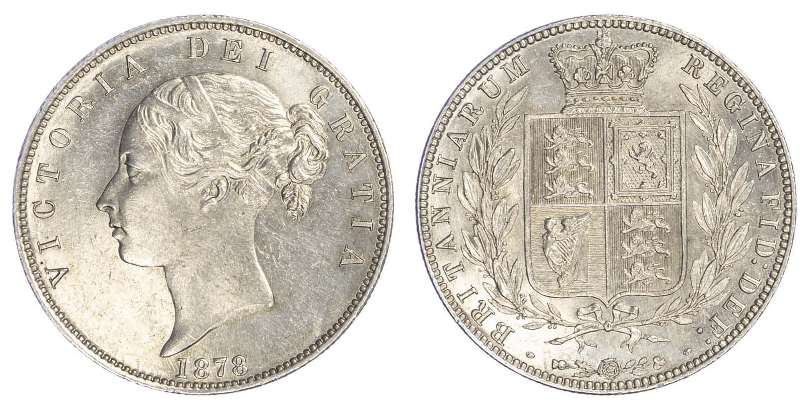 Victoria (1837-1901),1878, Halfcrown