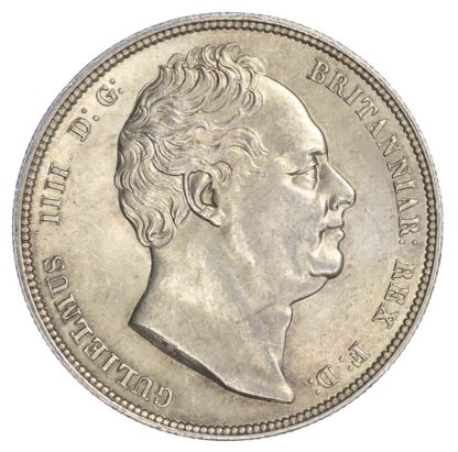 William IV (1830-37) Halfcrown, 1834, block W.W on truncation