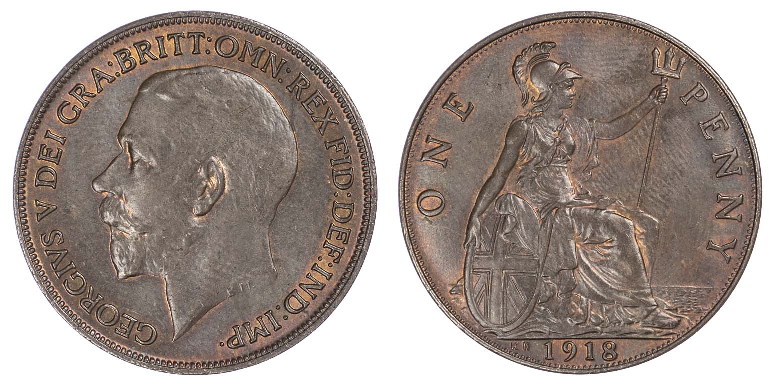 George V (1910-36), 1918 Kings Norton mint, Penny