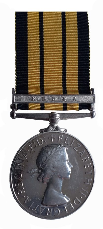 Africa General Service Medal 1902-56, EiiR, one clasp Kenya to Female Constable Reservist, Mulwa Ngao