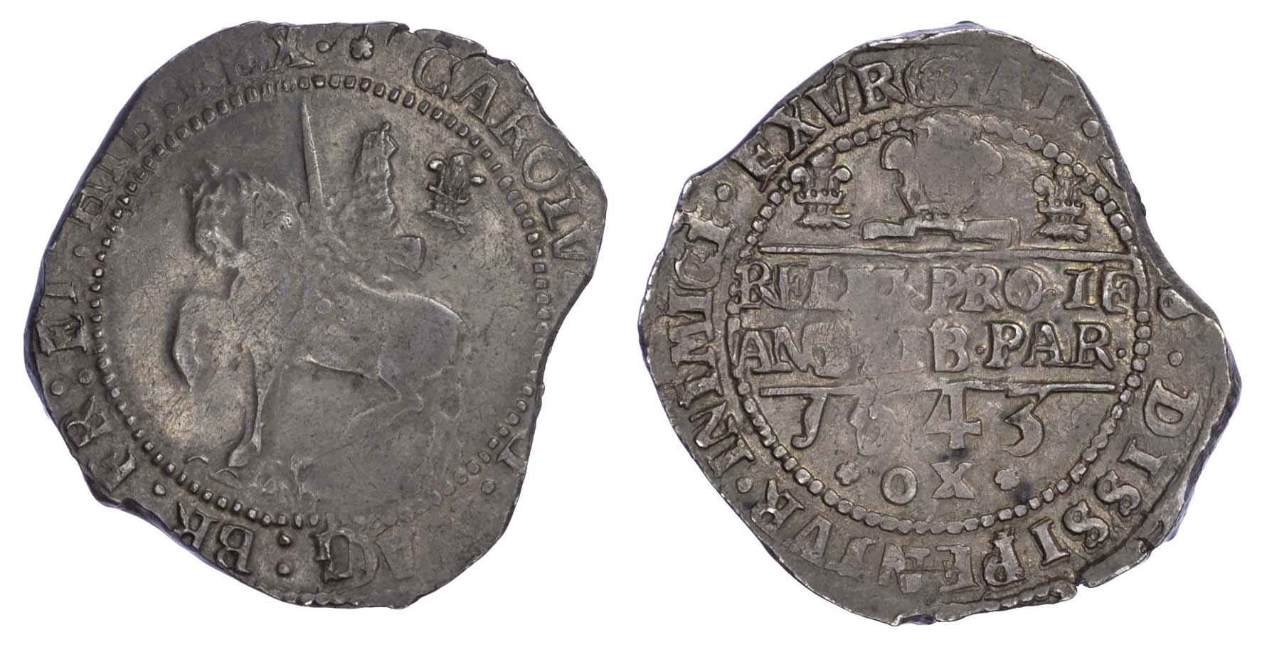 Charles I (1625-49) Halfcrown , Oxford mint, 1643