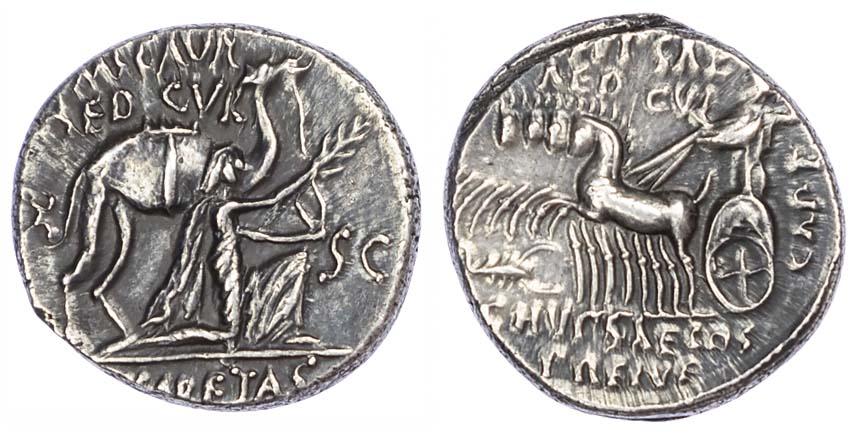 M. Aemilius Scaurus, Silver Denarius