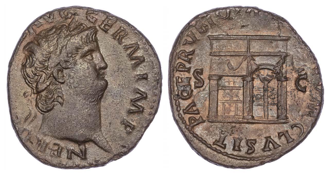 Nero, Copper As, Temple of Janus