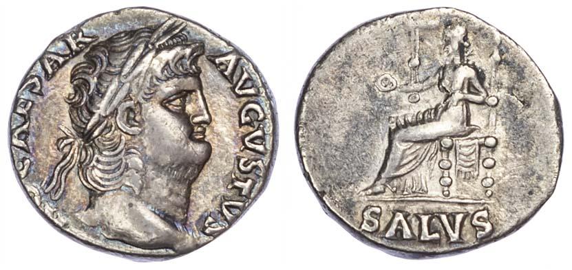 Nero, Silver Denarius