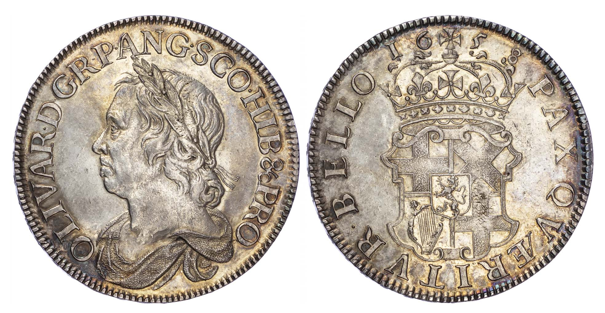 Cromwell, 1658/7, Crown