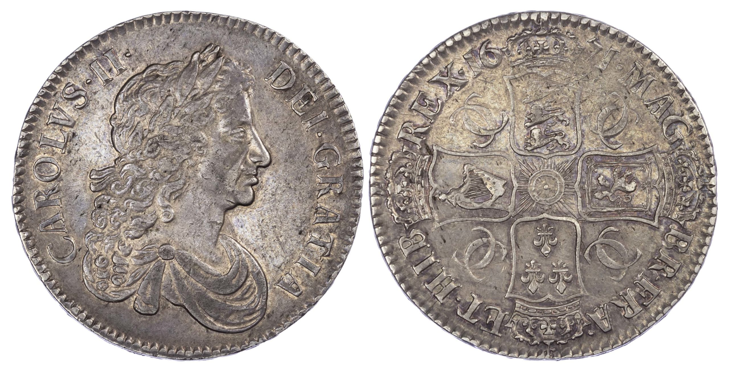 Charles II (1660-85), Crown, 1671, extremely fine