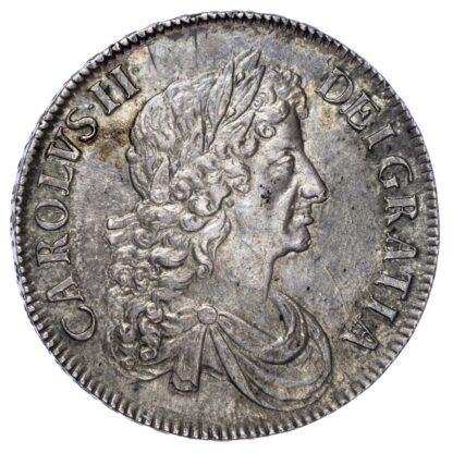 Charles II (1660-85),1672 Crown, Third Bust, Vicesimo Quarto Edge