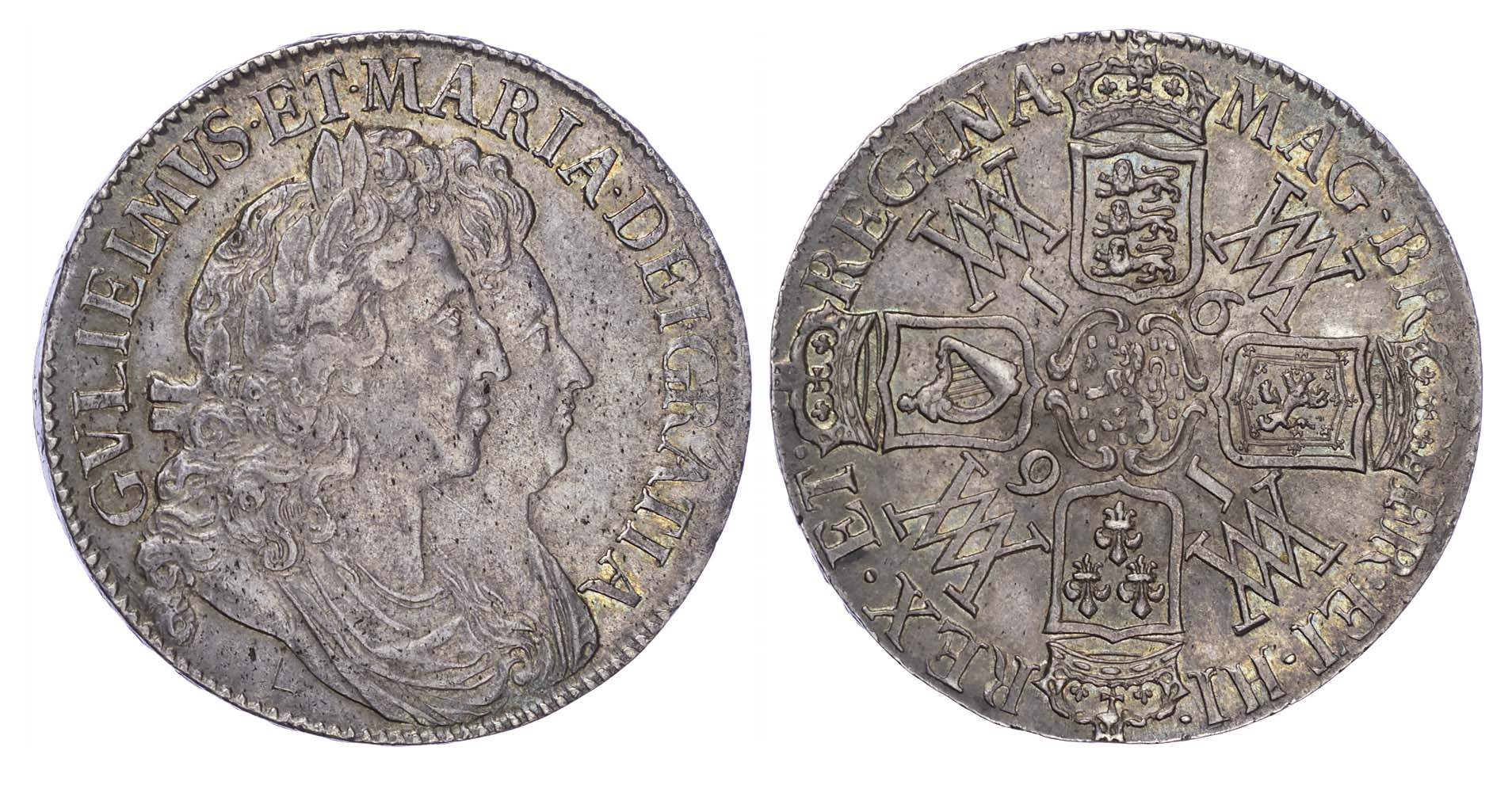 William & Mary (1689-94), Crown, 1691, Tertio edge