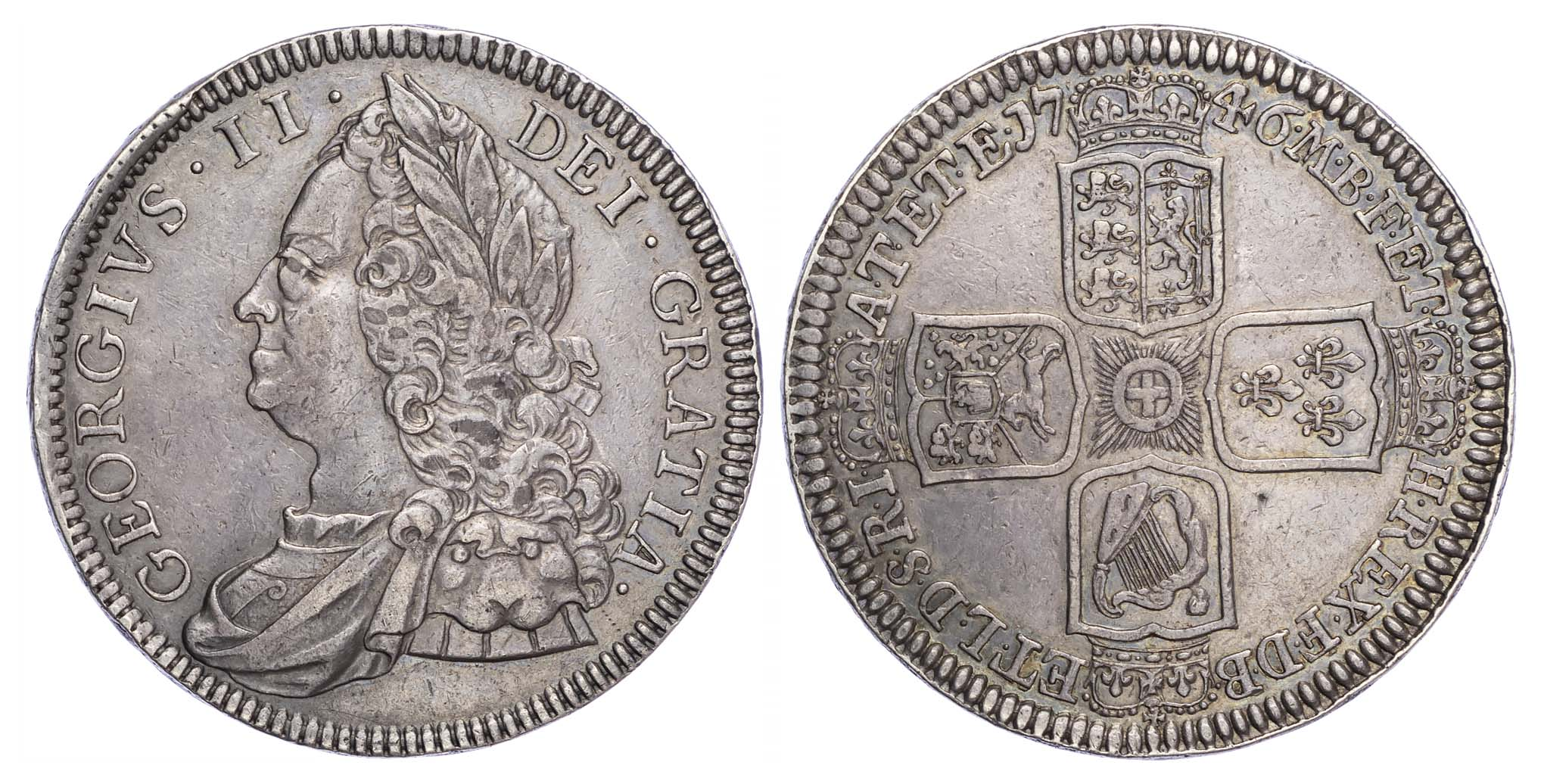 George II (1727-60), Proof Crown, 1746, Vicesimo