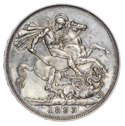 Victoria (1837-1901), Proof Crown, Old veiled bust, 1893