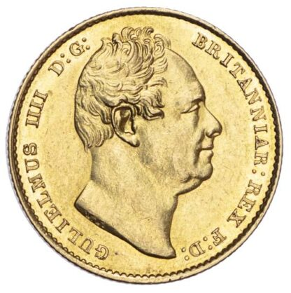 William IV (1830-37), Sovereign, 1837, (tailed 8 variety)