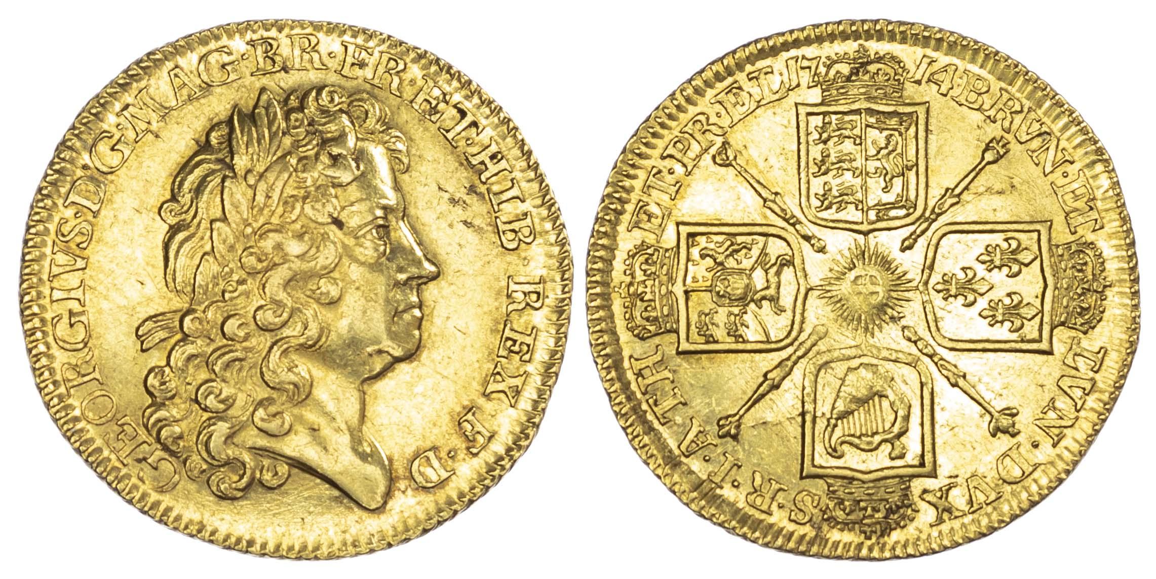 George I (1714-27), Guinea, 1714 'Prince Elector' type, first laureate head