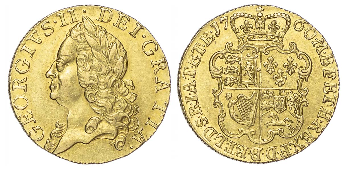 George II (1727-60), Guinea, 1760, older laureate head