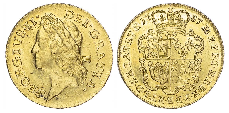 George II (1727-60), Guinea, 1737, second head