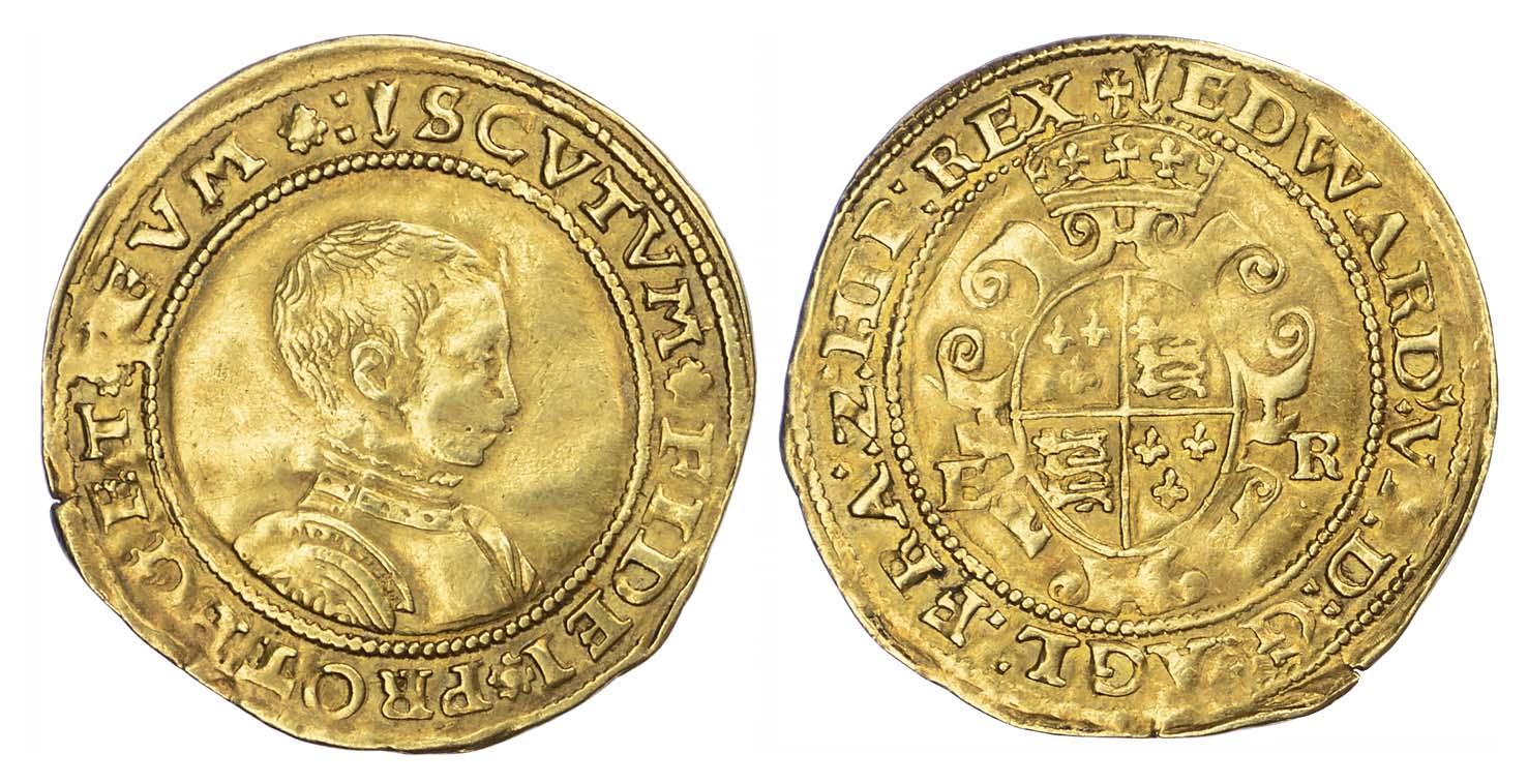 Edward IV (1547-53), Half Sovereign, second period, mintmark Arrow