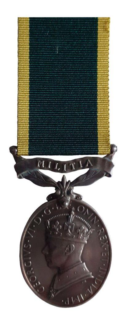 Efficiency Medal, GVIR, Militia suspension awarded to Signalman J. Beaumont