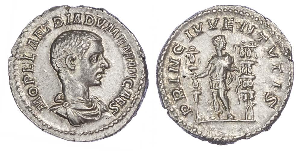 Diadumenian, Silver Denarius