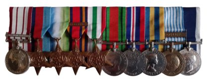 A Royal Navy, Palestine, Atlantic, Far East, Korea, Long Service Group of 10 awarded to Chief Petty Officer Telegraphist (A) Alfred Hirst Hayward