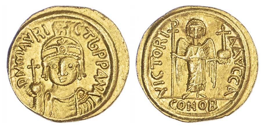 Maurice Tiberius, Solidus, Carthage