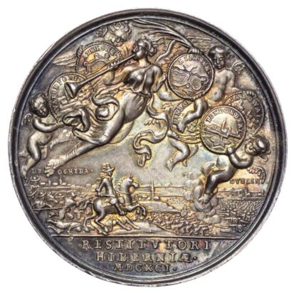 William and Mary (1688-1694), Pacification of Ireland 1691, Silver medal