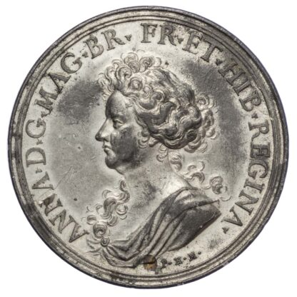 Mary (1702-1714), Concord of Britain 1711, Pewter medal