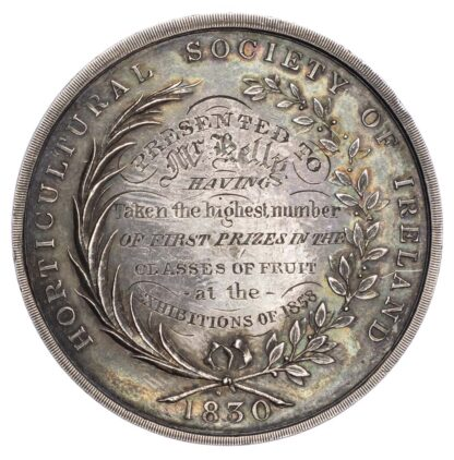 Horticultural Society of Ireland 1858, Silver prize medal