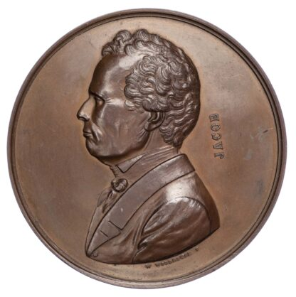 Victoria (1837-1901), Arthur Jacob 1860 (Prof. at Royal College of Surgery) Bronze medal
