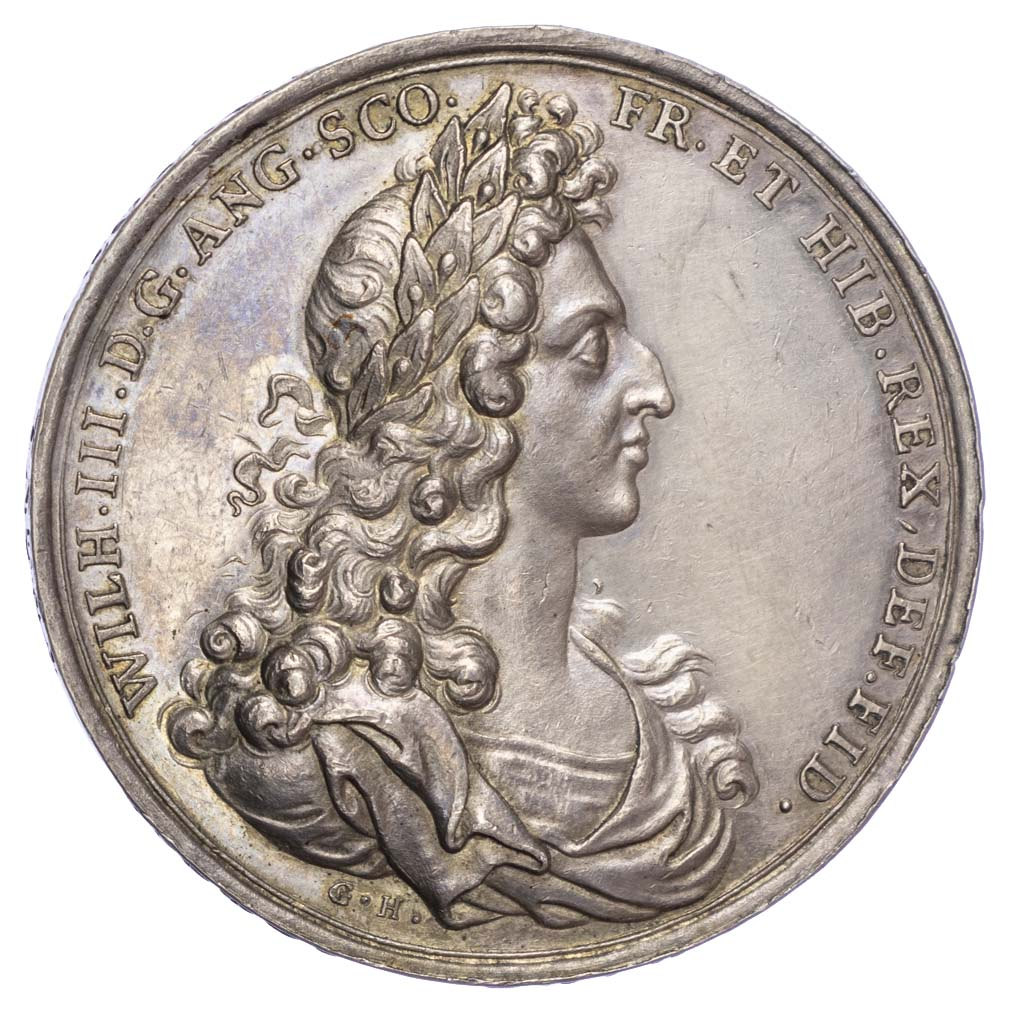 William & Mary (1688-1694), Amnesty in Ireland 1690, Silver Medal