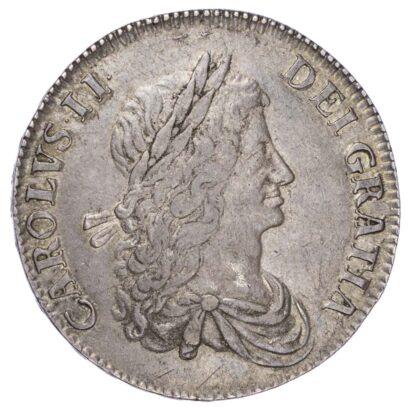 Charles II (1660-85), 1663 Crown, ANNO REGNI XV edge