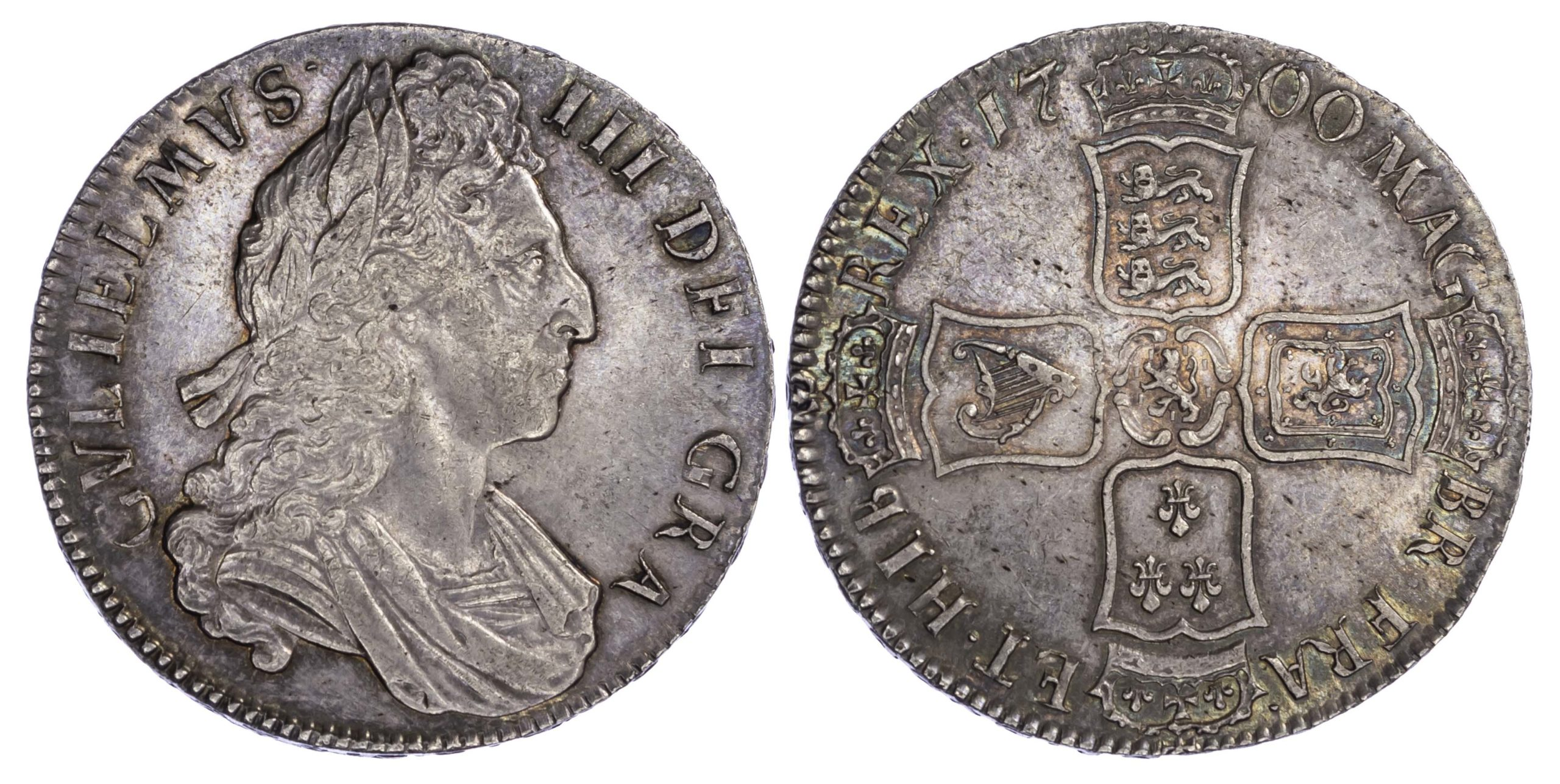 William III (1694-1702), Crown, 1700, DVODECIMO edge