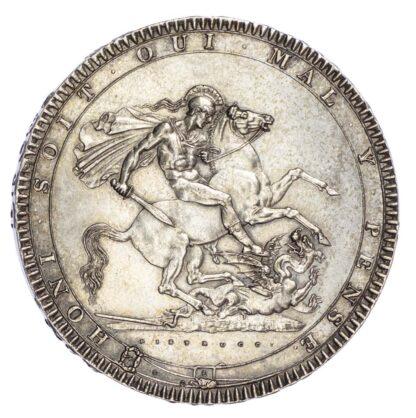 George III (1760-1820), Crown, 1818, LIX edge