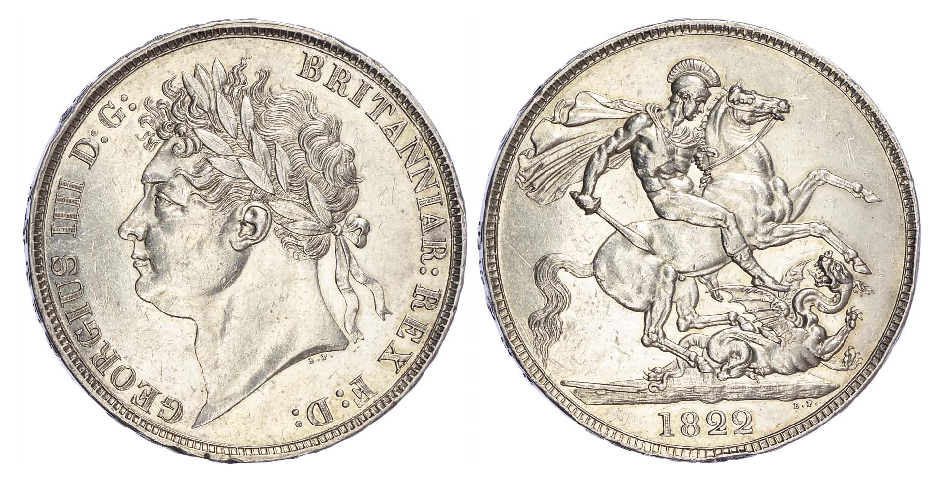 George IV (1820-30), Crown, 1822, Secundo edge
