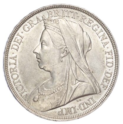 Victoria (1837-1901), 1896, Crown, LX edge, old veiled bust