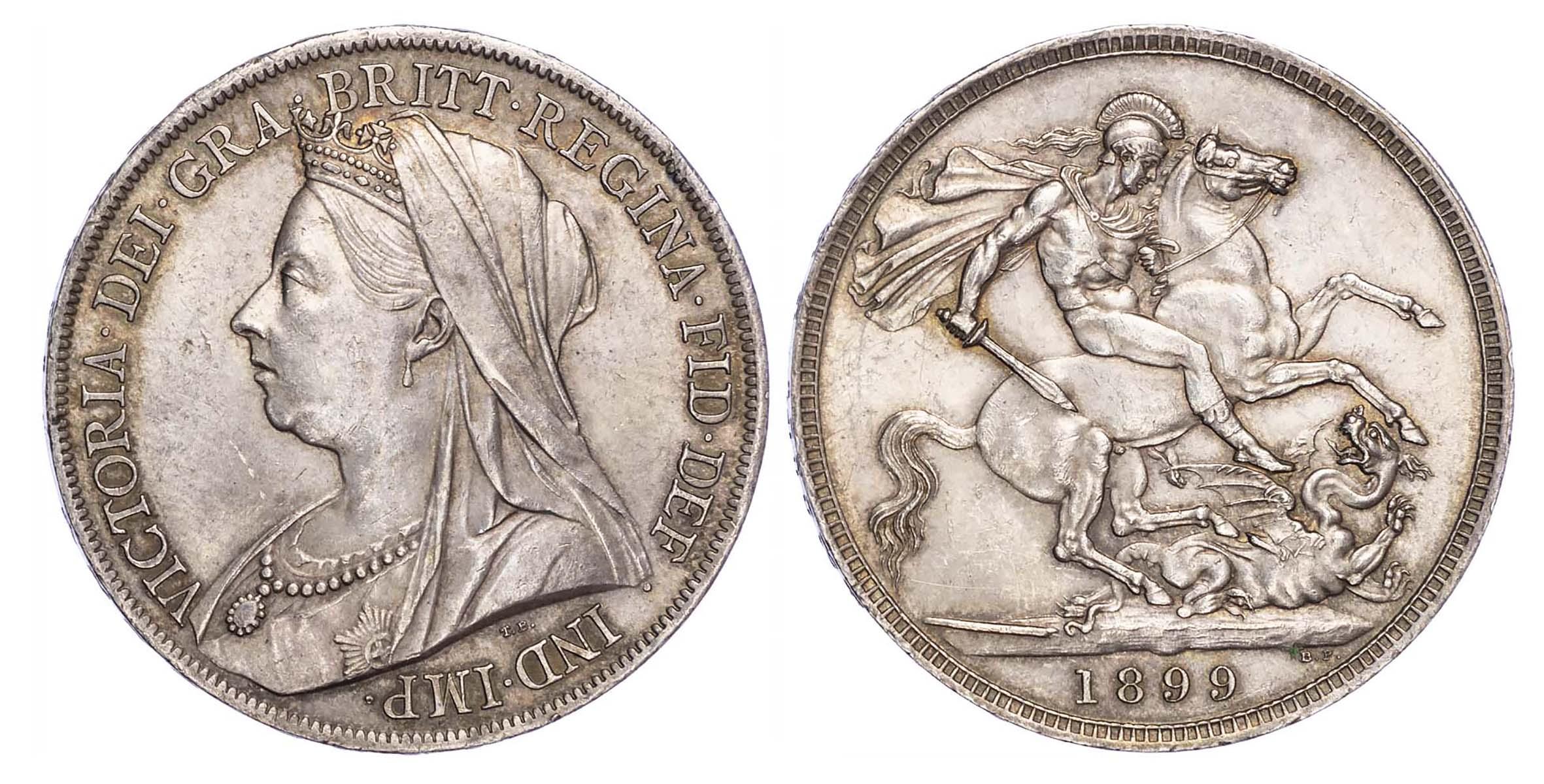 Victoria (1837-1901), 1899, Crown, LXIII edge