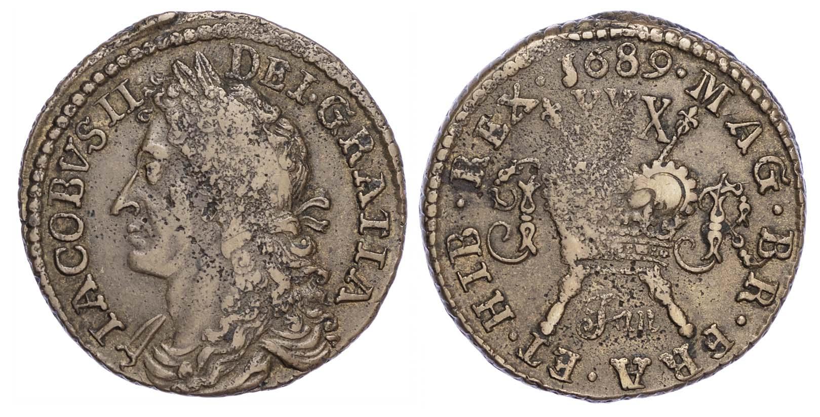 James II (1685-91), Ireland, Gunmoney, January 1689, Dublin