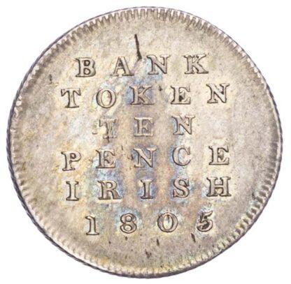 Ireland, George III (1760-1820), Bank of Ireland 10 Pence, 1805