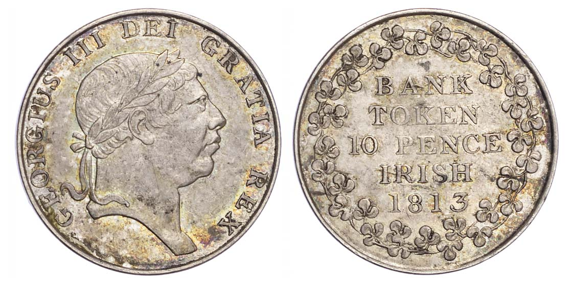 George III (1760-1820), Ireland, Ten Pence, 1813